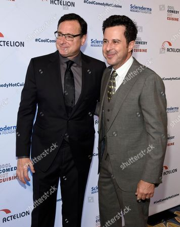 Bob Saget, left, and Jonathan Silverman attend the 30th annual Scleroderma Foundation Benefit at the Beverly Wilshire hotel, in Beverly Hills, Calif