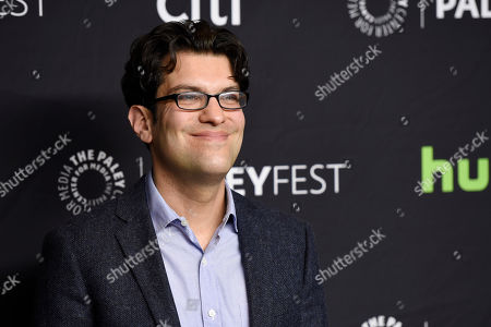 """Dan Mintz, a voice actor in the animated television series """"Bob's Burgers,"""" poses at the 34th Annual Paleyfest at the Dolby Theatre, in Los Angeles"""