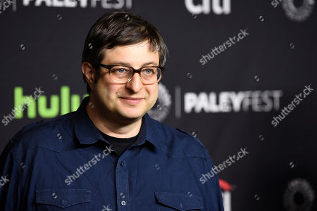 """Eugene Mirman, a voice actor in the animated television series """"Bob's Burgers,"""" poses at the 34th Annual Paleyfest at the Dolby Theatre, in Los Angeles"""