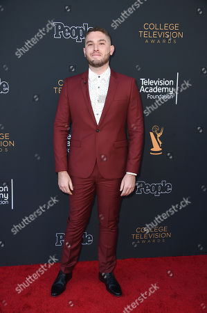 Josh Feldman arrives at the 38th College Television Awards presented by the Television Academy Foundation at the Saban Media Center, in the NoHo Arts District in Los Angeles