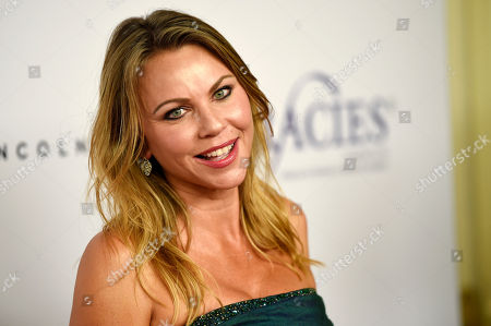 Journalist Lara Logan poses at the 42nd Annual Gracie Awards Gala at the Beverly Wilshire Hotel, in Beverly Hills, Calif