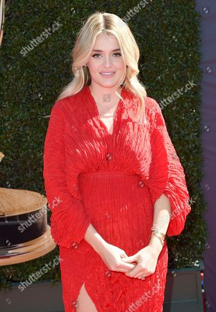 Daphne Oz arrives at the 44th annual Daytime Emmy Awards at the Pasadena Civic Center, in Pasadena, Calif