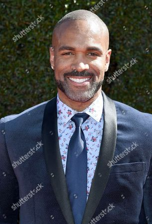 Donnell Turner arrives at the 44th Annual Daytime Emmy Awards at the Pasadena Civic Center, in Pasadena, Calif