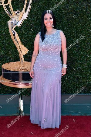 Stock Photo of Rosie Mercado arrives at the 44th annual Daytime Emmy Awards at the Pasadena Civic Center, in Pasadena, Calif