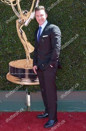 Steve Burton arrives at the 44th Annual Daytime Emmy Awards at the Pasadena Civic Center, in Pasadena, Calif