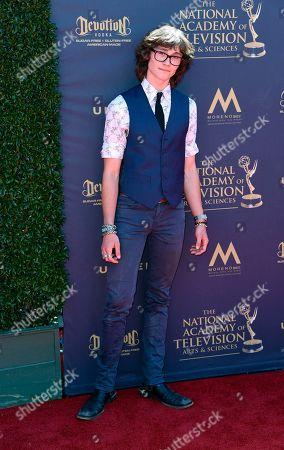 Stock Photo of Tristan Lake Leabu arrives at the 44th annual Daytime Emmy Awards at the Pasadena Civic Center, in Pasadena, Calif