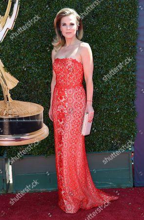 Gina Tognoni arrives at the 44th Annual Daytime Emmy Awards at the Pasadena Civic Center, in Pasadena, Calif