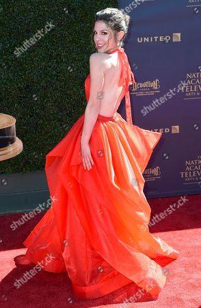 Kate Mansi arrives at the 44th Annual Daytime Emmy Awards at the Pasadena Civic Center, in Pasadena, Calif