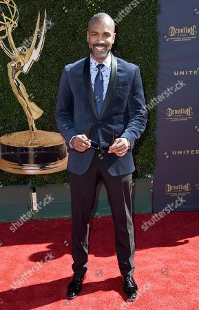 Stock Image of Donnell Turner arrives at the 44th Annual Daytime Emmy Awards at the Pasadena Civic Center, in Pasadena, Calif