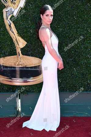 Kelly Monaco arrives at the 44th Annual Daytime Emmy Awards at the Pasadena Civic Center, in Pasadena, Calif