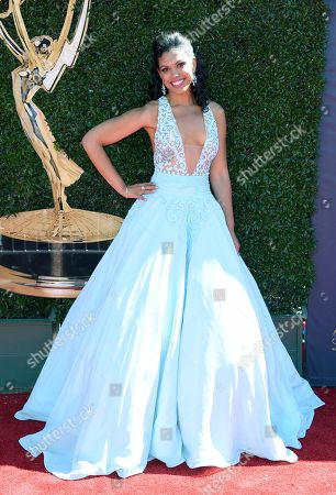 Karla Mosley arrives at the 44th Annual Daytime Emmy Awards at the Pasadena Civic Center, in Pasadena, Calif