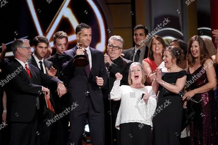 "Stock Photo of Frank Valentini, and the cast and crew of ""General Hospital"" accept the award for outstanding drama series at the 44th annual Daytime Emmy Awards at the Pasadena Civic Center, in Pasadena, Calif"