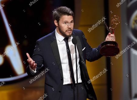 """Stock Picture of Scott Clifton accepts the award for outstanding lead actor in a drama series for """"The Bold and the Beautiful"""" at the 44th annual Daytime Emmy Awards at the Pasadena Civic Center, in Pasadena, Calif"""