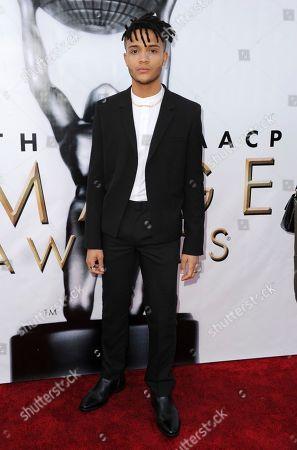 Nicholas L. Ashe arrives at the 48th annual NAACP Image Awards at the Pasadena Civic Auditorium, in Pasadena, Calif