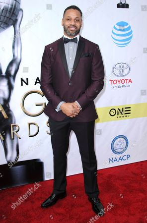 Stock Picture of Carl Seaton arrives at the 48th annual NAACP Image Awards at the Pasadena Civic Auditorium, in Pasadena, Calif