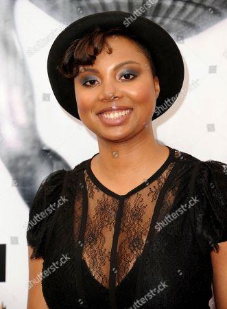 Misha Green arrives at the 48th annual NAACP Image Awards at the Pasadena Civic Auditorium, in Pasadena, Calif