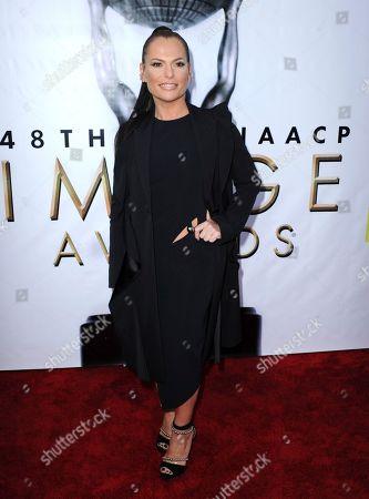 Sanaa Hamri arrives at the 48th annual NAACP Image Awards at the Pasadena Civic Auditorium, in Pasadena, Calif