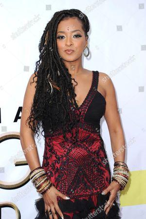Jennia Fredrique arrives at the 48th annual NAACP Image Awards at the Pasadena Civic Auditorium, in Pasadena, Calif