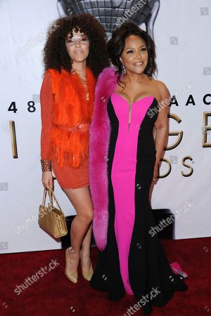 Grace Gibson, left, and Lynn Whitfield arrive at the 48th annual NAACP Image Awards at the Pasadena Civic Auditorium, in Pasadena, Calif