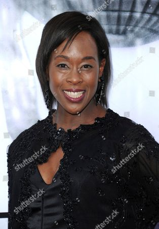 Stock Image of Margot Lee Shetterly arrives at the 48th annual NAACP Image Awards at the Pasadena Civic Auditorium, in Pasadena, Calif
