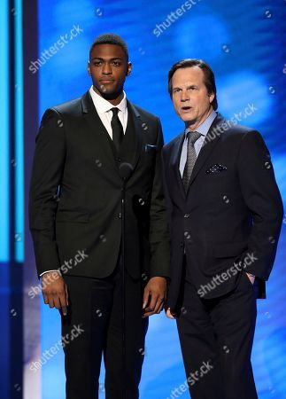 Justin Cornwell, left, and Bill Paxton present the award for outstanding actress in a motion picture at the 48th annual NAACP Image Awards at the Pasadena Civic Auditorium, in Pasadena, Calif