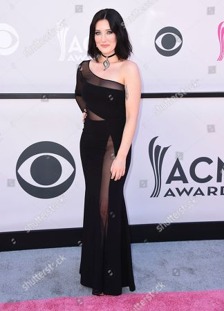 Aubrie Sellers arrives at the 52nd annual Academy of Country Music Awards at the T-Mobile Arena, in Las Vegas