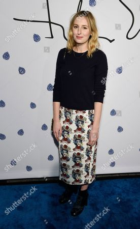 Actress Laura Carmichael poses at the fifth anniversary of designer Tyler Ellis' eponymous accessories line at the Chateau Marmont, in West Hollywood, Calif