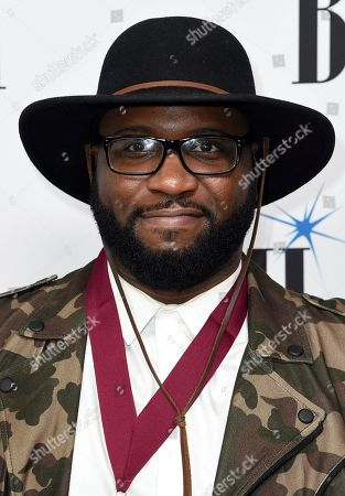 Stock Image of BMI Award winner Sebastian Kole arrives at the 65th annual BMI Pop Awards at the Beverly Wilshire Hotel, in Beverly Hills, Calif