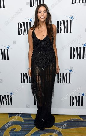 Ali Tamposi arrives at the 65th annual BMI Pop Awards at the Beverly Wilshire Hotel, in Beverly Hills, Calif
