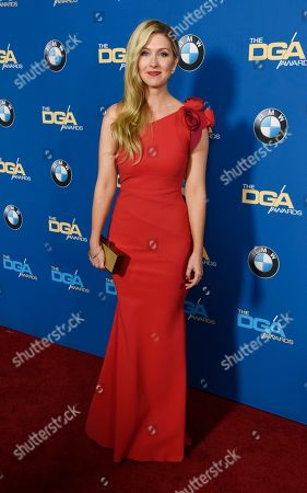 "Kelly Fremon Craig, director of ""Edge of Seventeen,"" poses at the 69th Annual Directors Guild of America Awards at the Beverly Hilton, in Beverly Hills, Calif"