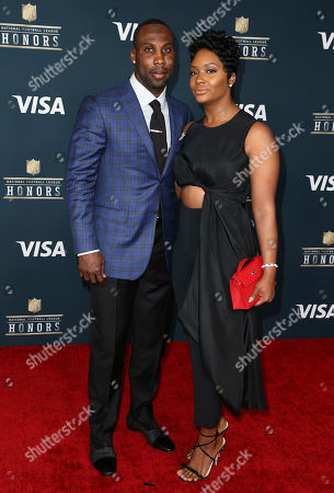 Anquan Boldin of the Detroit Lions, left, and Dion Boldin arrive at the 6th annual NFL Honors at the Wortham Center, in Houston