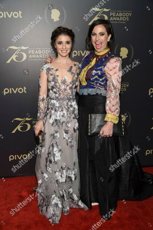 Shiri Appleby, left, Sarah Gertrude Shapiro attends the 75th Annual Peabody Awards Ceremony at Cipriani Wall Street, in New York