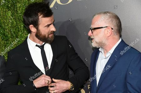 Justin Theroux, left, and Tom Perrotta attend the 75th Annual Peabody Awards Ceremony at Cipriani Wall Street, in New York
