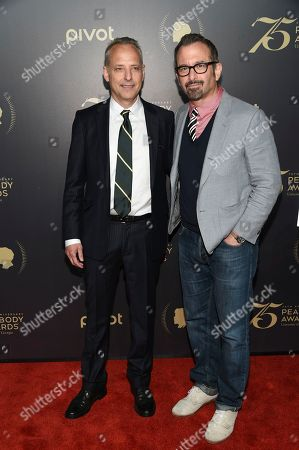 Marc Smerling, left, and Andrew Jarecki attend the 75th Annual Peabody Awards Ceremony at Cipriani Wall Street, in New York