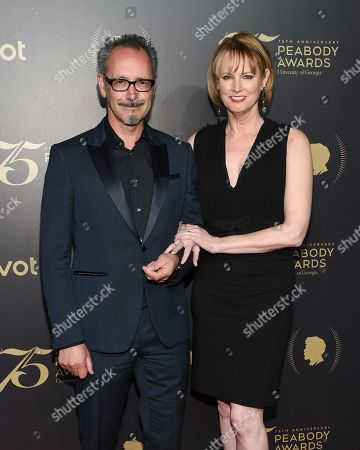 Stock Image of Melissa Rosenberg and husband Lev L. Spiro attend the 75th Annual Peabody Awards Ceremony at Cipriani Wall Street, in New York