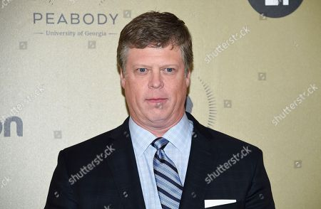 Stock Photo of George Foster Peabody Awards director Dr. Jeffrey P. Jones poses in the press room at the 76th Annual Peabody Awards at Cipriani Wall Street, in New York
