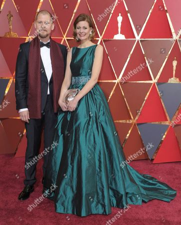 Stock Image of Love Larson, left, and Eva von Bahr arrive at the Oscars, at the Dolby Theatre in Los Angeles