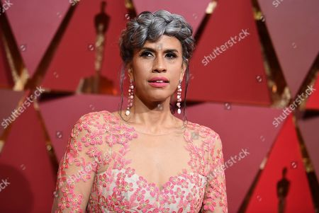 Mimi Valdes arrives at the Oscars, at the Dolby Theatre in Los Angeles
