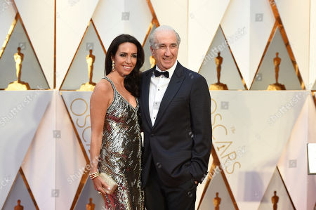 From left, Nadine Barber and Gary Barber arrive at the Oscars, at the Dolby Theatre in Los Angeles