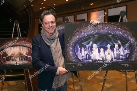Derek McLane, Production Designer for 89th Academy Awards, poses for photos in Los Angeles on . The Academy Awards will be held at the Dolby Theatre on Sunday, Feb. 26