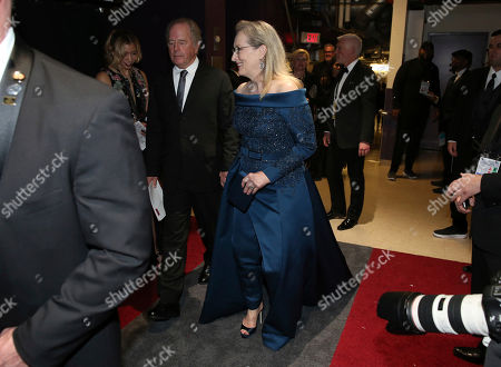 Don Gummer, left, and Meryl Streep appear backstage at the Oscars, at the Dolby Theatre in Los Angeles