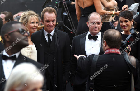 Stock Image of Trudie Styler, from left, Sting and J. Ralph arrive at the Oscars, at the Dolby Theatre in Los Angeles