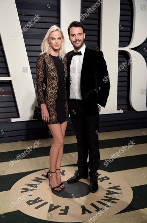 Stock Picture of Model Shannan Click, left, and actor Jack Huston arrive at the Vanity Fair Oscar Party, in Beverly Hills, Calif