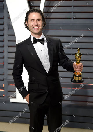 Stock Image of Alan Barillaro arrives at the Vanity Fair Oscar Party, in Beverly Hills, Calif