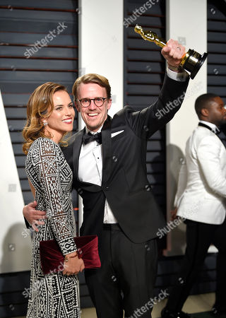 Stock Picture of Andrew R. Jones arrives at the Vanity Fair Oscar Party, in Beverly Hills, Calif