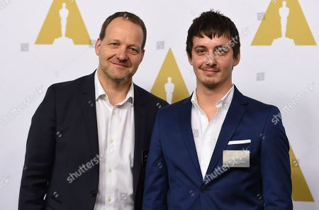 Kim Magnusson, left, and Aske Bang arrive at the 89th Academy Awards Nominees Luncheon at The Beverly Hilton Hotel, in Beverly Hills, Calif