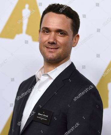Spencer Averick arrives at the 89th Academy Awards Nominees Luncheon at The Beverly Hilton Hotel, in Beverly Hills, Calif