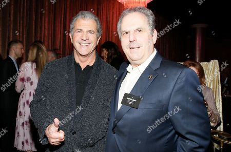 Mel Gibson, left, and Bill Mechanic attend the 89th Academy Awards Nominees Luncheon at The Beverly Hilton Hotel, in Beverly Hills, Calif