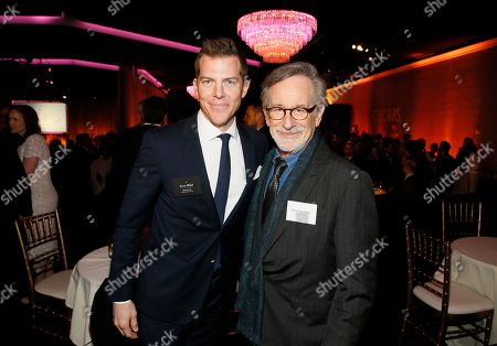 Kevin J. Walsh, left, and Steven Spielberg attend the 89th Academy Awards Nominees Luncheon at The Beverly Hilton Hotel, in Beverly Hills, Calif