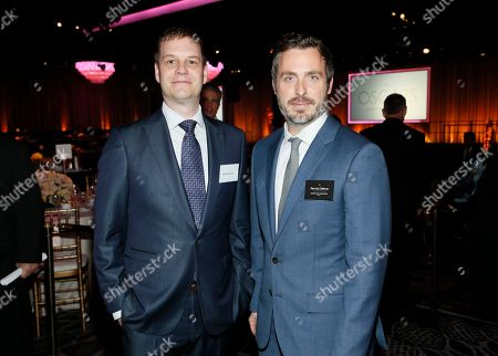 Stock Picture of David Eisenmann, left, and Patrick Osborne attend the 89th Academy Awards Nominees Luncheon at The Beverly Hilton Hotel, in Beverly Hills, Calif
